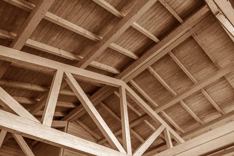 Holzdecke in einer Halle - Zimmerei Altinger, Altfrauenhofen